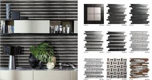 Metal Kitchen Backsplash Tiles Sa089 Lands Tile Linear Silver Stainless Steel 3d Mosaic Wall Tile