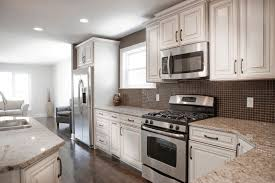 backsplash for black and white kitchen backsplash for white kitchen cabinets grey tile flooring decor