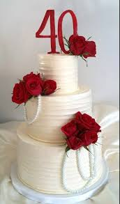 ruby wedding cakes 40th anniversary cake yahoo image search results 40th