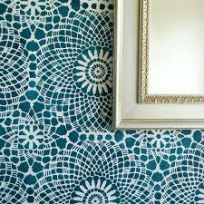 Reusable Wallpaper by Circular Vintage Lace All Over Wallpaper Stencil Reusable