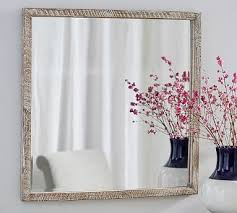 Mirror Curtain Mirror In Frame Pottery Barn
