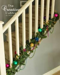 Handrail Christmas Decorations The Creative Cubby Decorating For A Mardi Gras Christmas