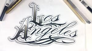 los angeles lettering design lapse