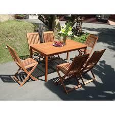 Outdoor Dining Room Sets Vifah V98set4 Balthazar Rectangular Table And Folding Chair
