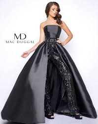 prom jumpsuit prom dress with and skirt mac duggal 11039m