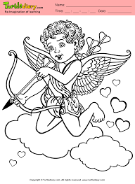 cupid coloring book games cupid and winged heart coloring page