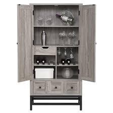 Oak Bar Cabinet Barret Rustic Bar Cabinet Sonoma Oak Black Altra Target