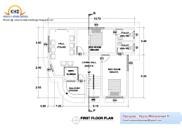 Floor Plan With Elevation by Home Plan And Elevation Kerala Home Design And Floor Plans Home
