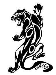black tribal panther design tip