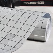 yazi silver mosaic aluminum wallpaper anti oil and high