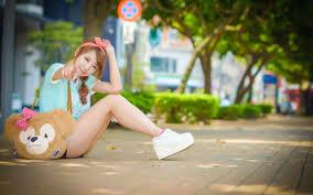 wallpaper girl style download free asian girls background pixelstalk net