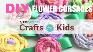 diy flower corsages crafts for kids pbs parents youtube