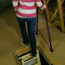 metal loft balance grab rail hulley ladders