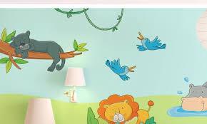 stickers jungle chambre bébé chambre bébé le livre de la jungle leostickers