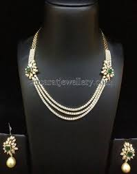 diamond sets design pretty necklaces with ruby emeralds jewellery designs rs