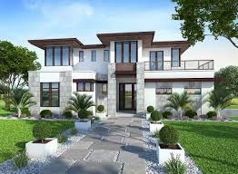 Contemporary Modern House Plans Spacious Upscale Contemporary With Multiple Second Floor