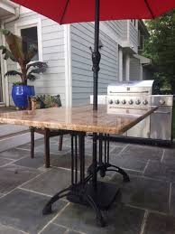Patio Table Bases Custom Granite Patio Table With Our Bruni 2 X 2 Tablebases