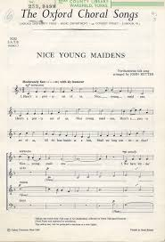 maidens composed by rutter 1945 for satb choir