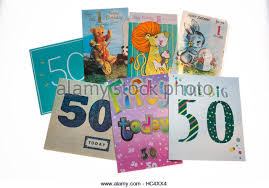 selection of birthday cards stock photos selection of birthday