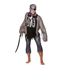 Skeleton Halloween Dress by Zombie Skeleton Pirate Mens Fancy Dress Halloween Costume