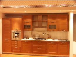 awesome wooden wardrobe for kitchen design with lighting idea in