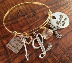 baptism charm bracelet faith bracelet baptism gift christian jewelry gold bangle charm