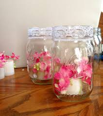 wedding silk flowers glued to flame less candles from hobby