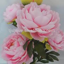 artificial peonies pink and white artificial peony silk peony flowers wholesale peony