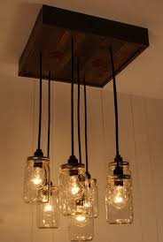 Pottery Barn Mason Jar Chandelier Find The Uniqueness And Breathtaking Home Lighting By Installing