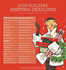 fedex thanksgiving hours 2015 holiday shipping deadlines a touch of teal
