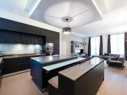 photo salon cuisine ouverte aménagement d un duplex contemporain cuisine ouverte sur salon