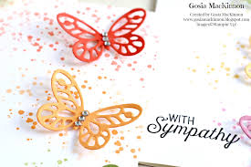 butterfly sympathy card idea from stampin up gosia mackinnon