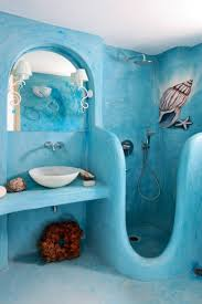 nautical themed bathroom cabinets blue paint color wall mounted