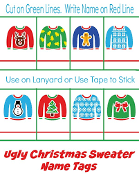 free sweater printable invites cupcake toppers and