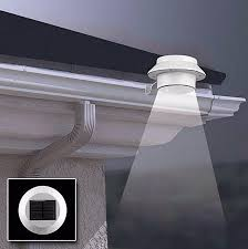 Solar Powered Fence Lights - 10pcs solar lamp powered outdoor porch yard wall led light gutter