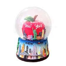 new york city big apple snow globe souvenir gift