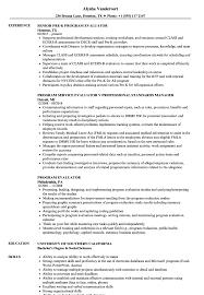 program evaluator resume sles velvet jobs