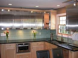 kitchen with glass backsplash loft spa green frosted 4x12 glass tile shop glass tiles at
