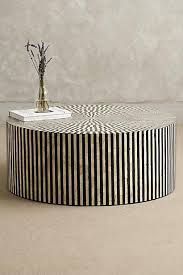 Ivory Coffee Table Inlay Ivory And Black Coffee Table