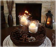 Everyday Kitchen Table Centerpieces by Simple Centerpiece Candles Jar Filled With Coffee Beans And