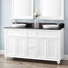 White Double Vanity 60 60