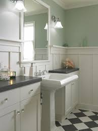 magnificent modern wainscoting panels in powder room traditional