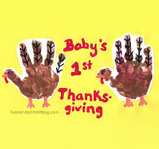 baby s 1st thanksgiving handprint turkey keepsake