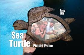 how to make a sea turtle picture frame youtube