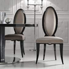 Italian Designer Black Oval Dining Chair Juliettes Interiors - Italian design chairs
