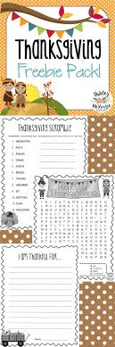 thanksgiving activities freebie wordsearch word scramble