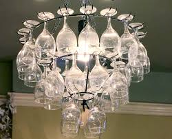 Diy Large Chandelier Wine Glass Chandelier Diy Beautiful Wine Glass Chandelier