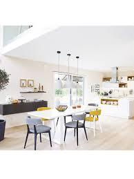 wohnideen laminat farbe offene küche mit großzügigem essplatz