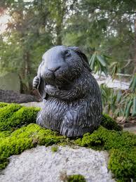 bunny garden rabbit statue scratching ear 18 95 via etsy