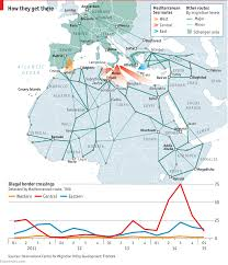 Map Of Europe And The Middle East by The Migration Crisis The Economist